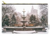 Winter - City Hall Fountain - New York City Carry-all Pouch