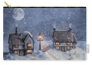 Winter Cottages In Snow Carry-all Pouch