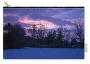 Winter Evening In Grants Pass Carry-all Pouch