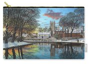 Winter Evening Tickhill Yorkshire Carry-all Pouch