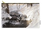 Winter Falls On Big Stone Lake  Carry-all Pouch