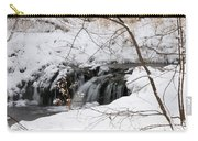 Winter Falls On Big Stone Lake Mn Carry-all Pouch