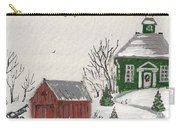 Winter Farm House Carry-all Pouch