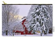 Winter Farm Scene Carry-all Pouch