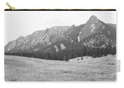 Winter Flatirons View Boulder Colorado Bw Carry-all Pouch