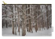 Winter Forest Abstract II Carry-all Pouch