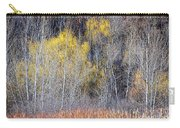Winter Forest Landscape With Bare Trees Carry-all Pouch