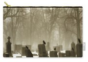 Winter Graveyard Crows Carry-all Pouch
