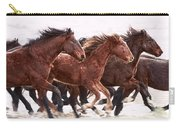 Winter Hardened Wild Horses Carry-all Pouch