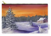 Winter Hare Visit Carry-all Pouch