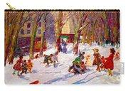Winter High Bridge Park Carry-all Pouch