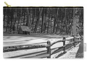Winter Hut In Black And White Carry-all Pouch