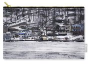 Winter Ice Lake Scene Hopatcong Covered Port Carry-all Pouch