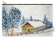 Winter Idyll With Text Carry-all Pouch