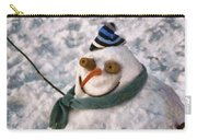 Winter - I'm Ready For My Closeup Carry-all Pouch by Mike Savad
