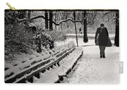 Winter In Central Park Carry-all Pouch