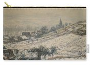 Winter In Giverny Carry-all Pouch
