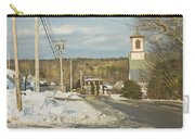 Winter In Round Pond Maine Carry-all Pouch