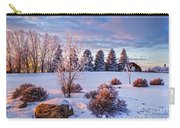 Winter In Pink Color Carry-all Pouch