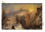 Winter In Switzerland Carry-all Pouch by Jasper Francis Cropsey
