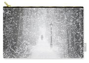Snowing In The Forrest Carry-all Pouch