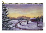 Winter In Vermont Carry-all Pouch by Anastasiya Malakhova