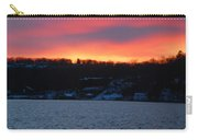 Winter Lake Sunset Carry-all Pouch