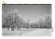 Winter Landscape In Bw Carry-all Pouch