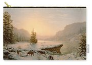 Winter Landscape Carry-all Pouch by Mortimer L Smith