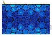 Winter Lights - Blue Mosaic Art By Sharon Cummings Carry-all Pouch