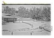 Winter Lines Black And White Carry-all Pouch