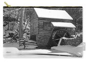 Winter Mill In Black And White Carry-all Pouch