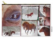 Winter Moments- With The Flashy Paso Fino Stallion Carry-all Pouch