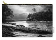 Winter Moonlight Wolfes Neck Woods Maine Carry-all Pouch by Bob Orsillo