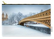 Winter Morning With Bow Bridge Carry-all Pouch