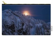 Winter Mountain Moonrise Carry-all Pouch