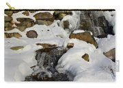 Winter Mountain Stream Carry-all Pouch