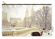 Winter - New York City - Central Park Carry-all Pouch by Vivienne Gucwa
