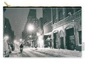 Winter Night - New York City - Lower East Side Carry-all Pouch