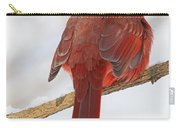 Winter Northern Cardinal Carry-all Pouch