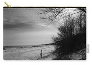 Winter On The Beach  Carry-all Pouch
