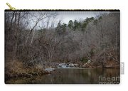 Winter On The Eno River At Fews Ford Carry-all Pouch