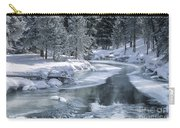 Winter On The Firehole River - Yellowstone National Park Carry-all Pouch by Sandra Bronstein