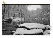 Winter On The Wissahickon Creek Carry-all Pouch