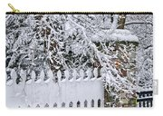 Winter Park Fence Carry-all Pouch by Elena Elisseeva