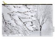 Winter Park Under Heavy Snow Carry-all Pouch by Elena Elisseeva