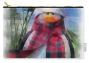 Winter Penguin Photo Art Carry-all Pouch