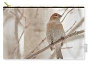 Winter Pine Grosbeak Carry-all Pouch