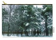 Winter Pine Tree  Carry-all Pouch