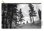 Winter Pines Silhouetted Against The Sky Carry-all Pouch